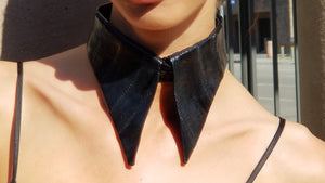 Eelskin Leather Collar