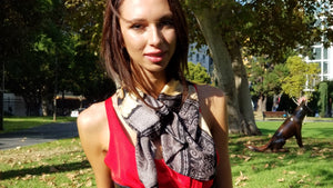 Silk Flip Turn Scarf