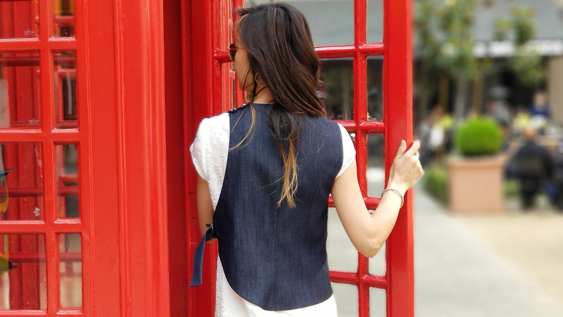 Shaped Denim Vest