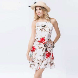 Short summer dress With floral print