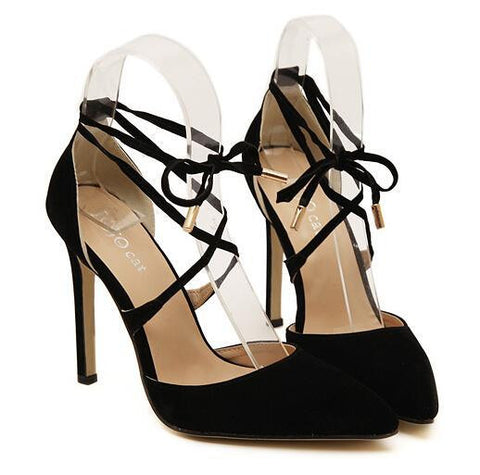Stiletto Lace Up high heels