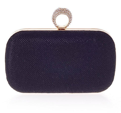 Knuckle Ring evening clutch with Crystals
