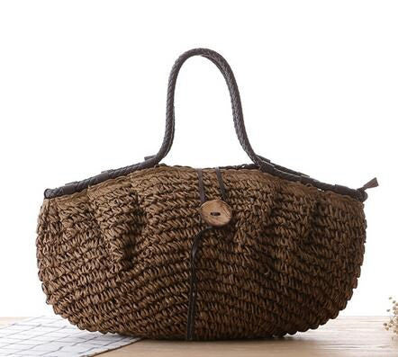 Pillow Straw Beach Handbag