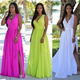 Long Multi color Wrap summer dresses