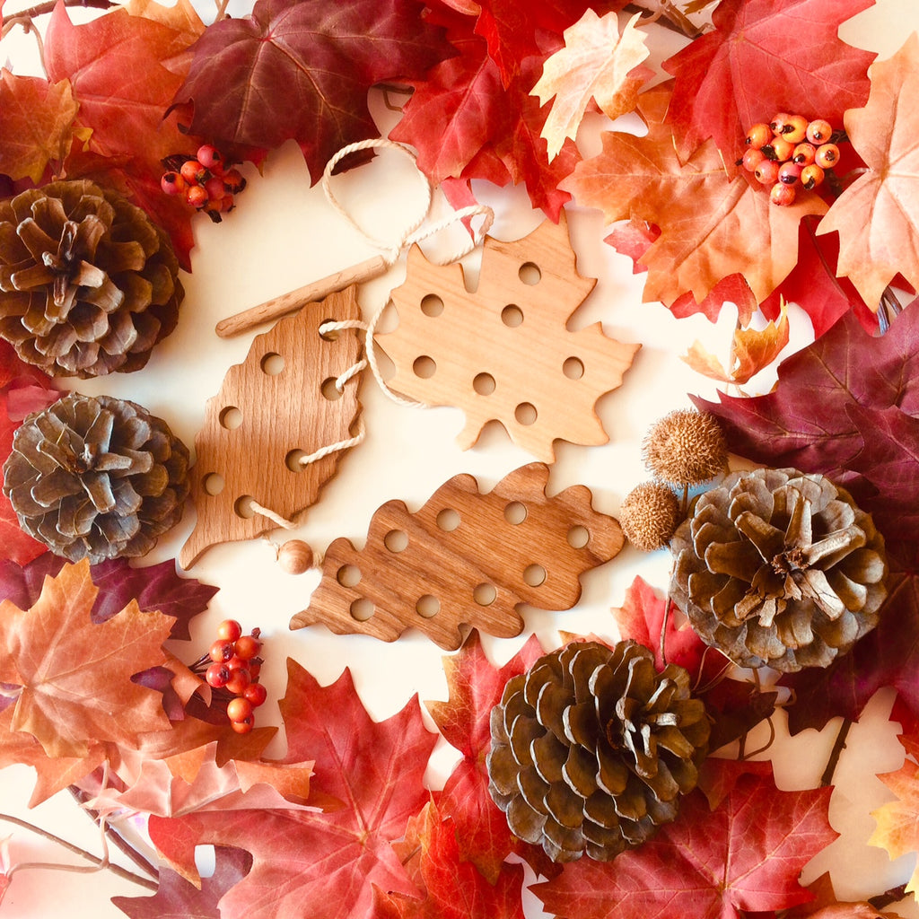 🍁 Win a Fall Leaf Lacing Set with your best Montessori fall activities 🍂
