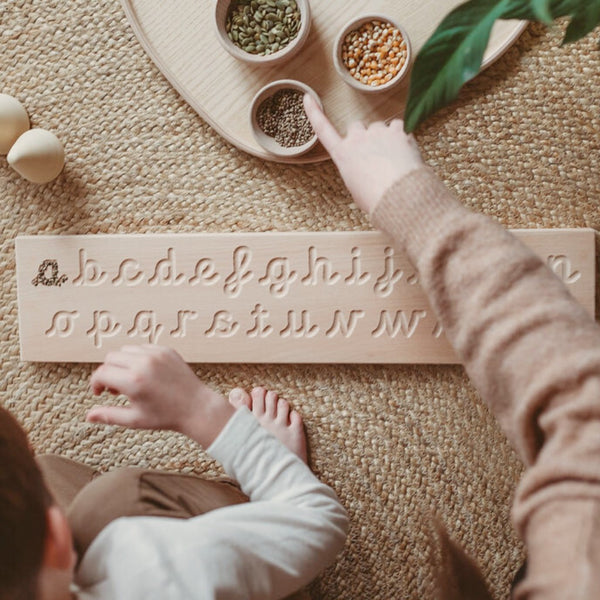 Montessori CURSIVE Alphabet Tracing Board