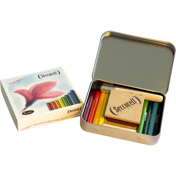 Seccorell pocket metal box with Smudge Paint sticks and accessories