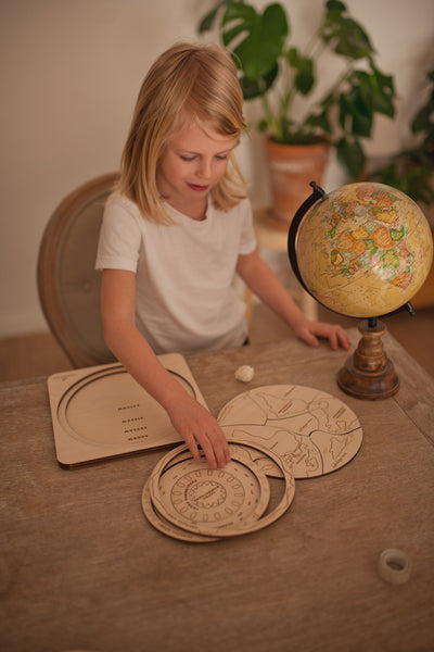 """Planet Earth"" multi-layer Montessori puzzle"