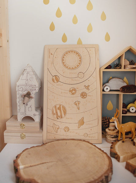 """Everything under the sun"" wooden Montessori puzzle"