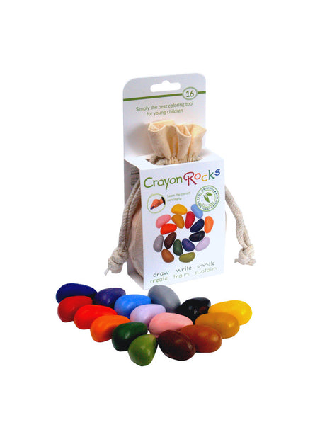 Crayon Rocks - 16 non-toxic ecological ergonomic crayons
