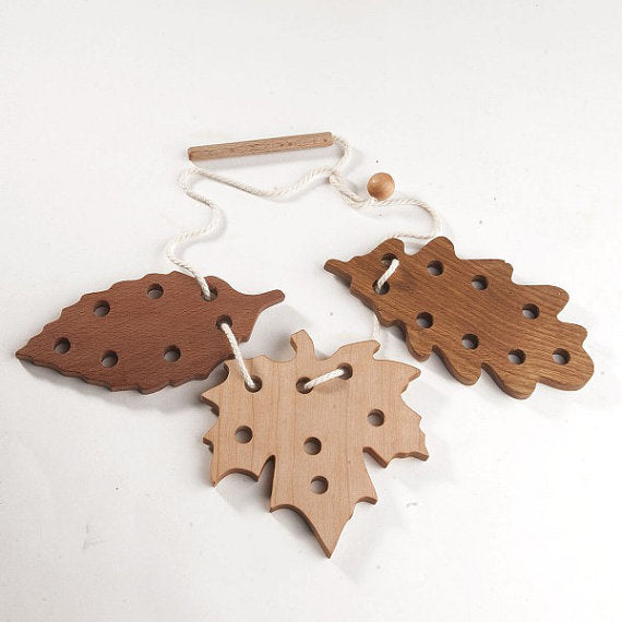 Fall Leaf Lacing Set