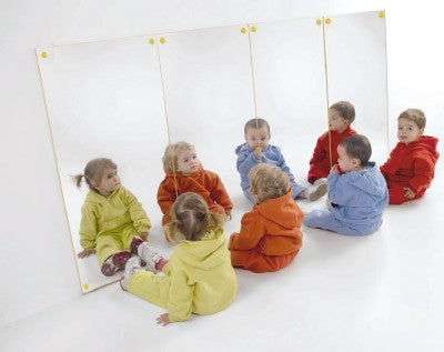 Baby safe mirror panel