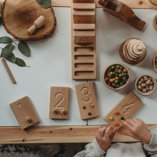 Montessori Number Tracing and Counting Boards