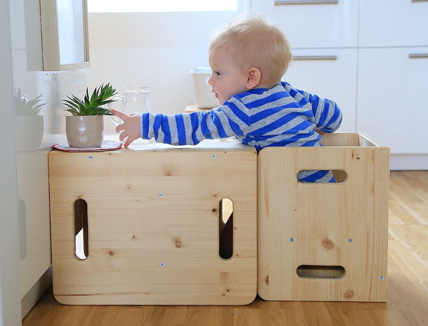 Montessori Cube Chair - Weaning Table & Chair
