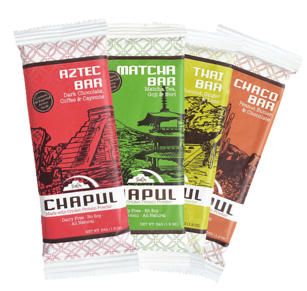 Chapul Cricket Flour Protein Bars - 4-pack - Sampler