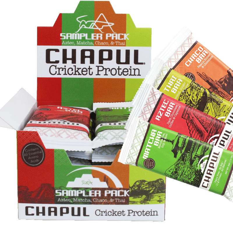 Chapul Cricket Flour Protein Bars - Sample Dozen