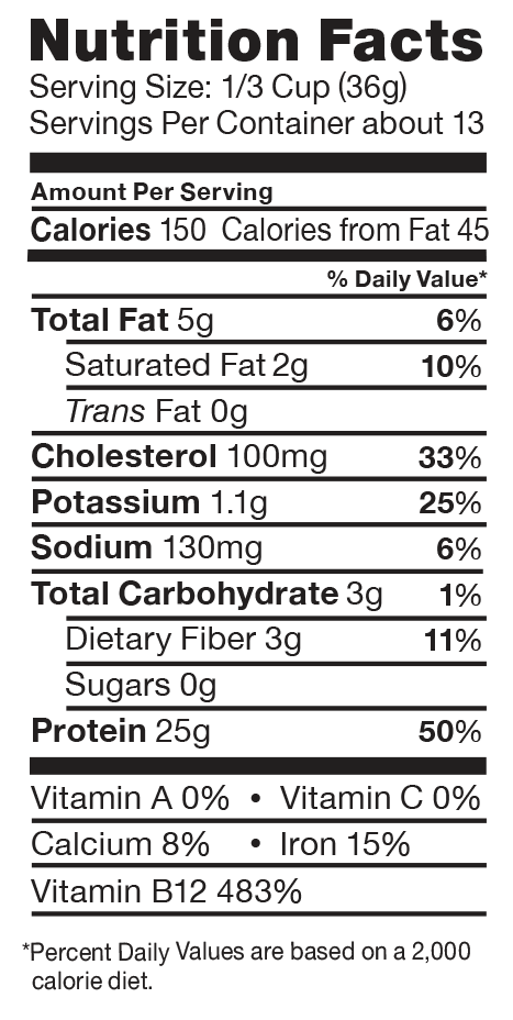 100% Cricket Protein Powder | Nutrition Facts