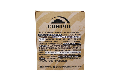 Chapul Cricket Flour Protein Bars - 4-pack Back Panel