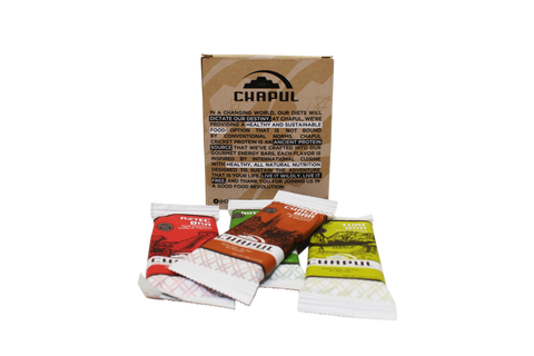 Chapul Cricket Flour Protein Bars - 4-pack - back display