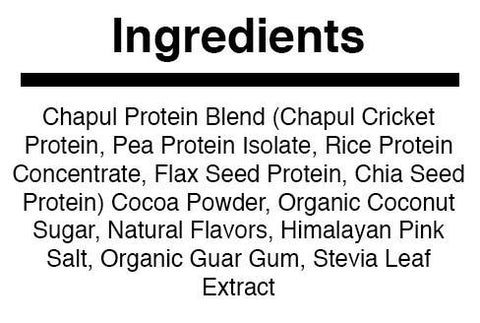 Chocolate Cricket Protein Powder | Ingredients
