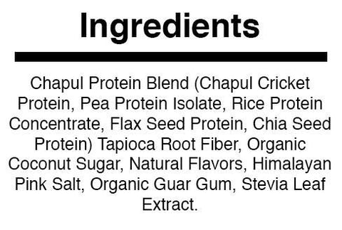 Vanilla Cricket Protein Powder | Ingredients | Chapul.com