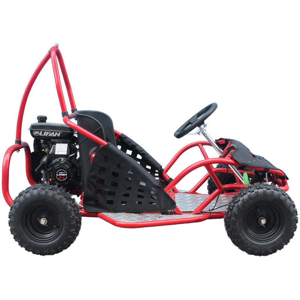TAOTAO GK80 Go Kart Right Side View Red