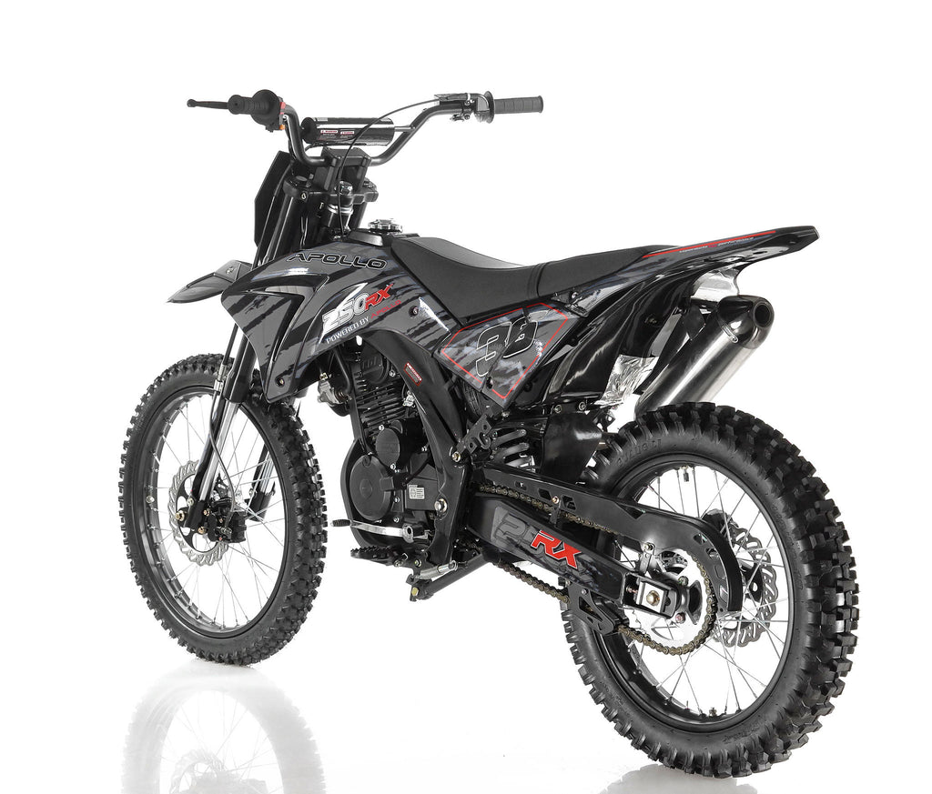 Apollo 36 250cc Dirt Bike Black Left Back