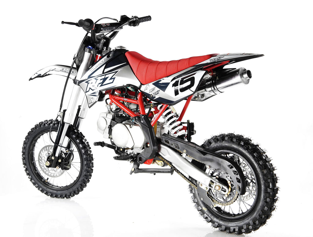 Apollo X15 125cc Dirt Bike Black Left Back