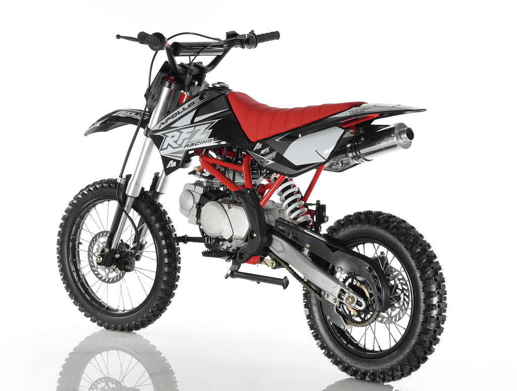 Apollo X18 125cc Dirt Bike Black Back Left