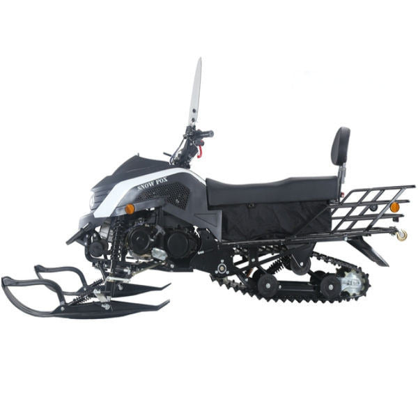 TAOTAO Snow Fox 200 Snowmobile White Left Side View