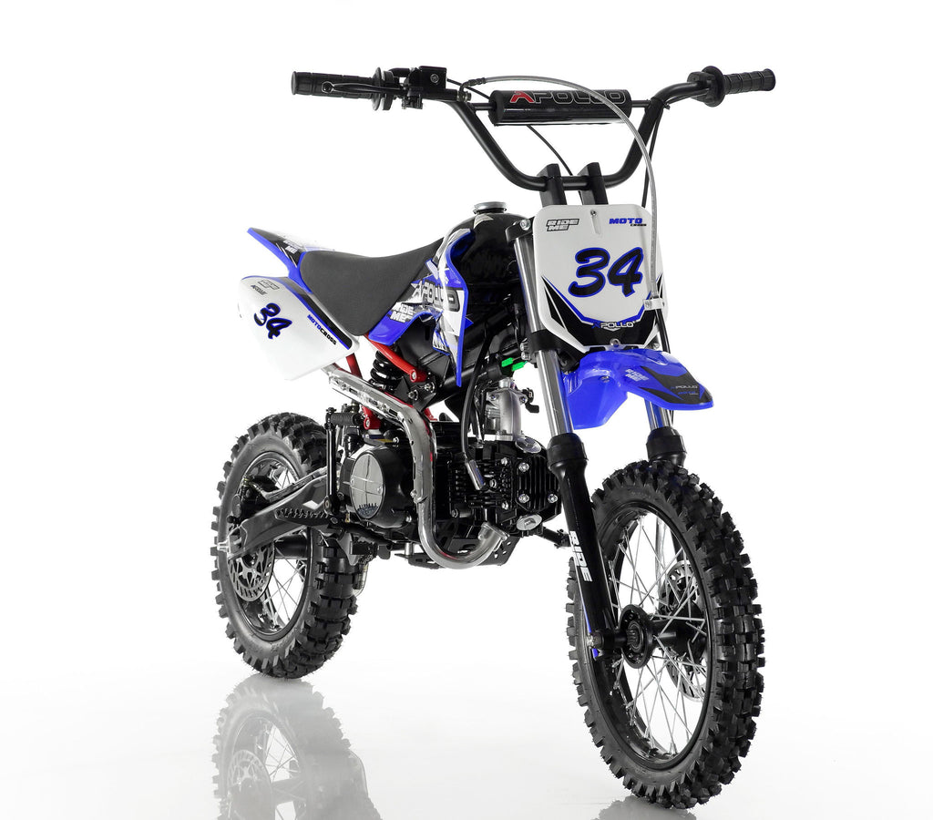Apollo 34 110cc Dirt Bike Blue