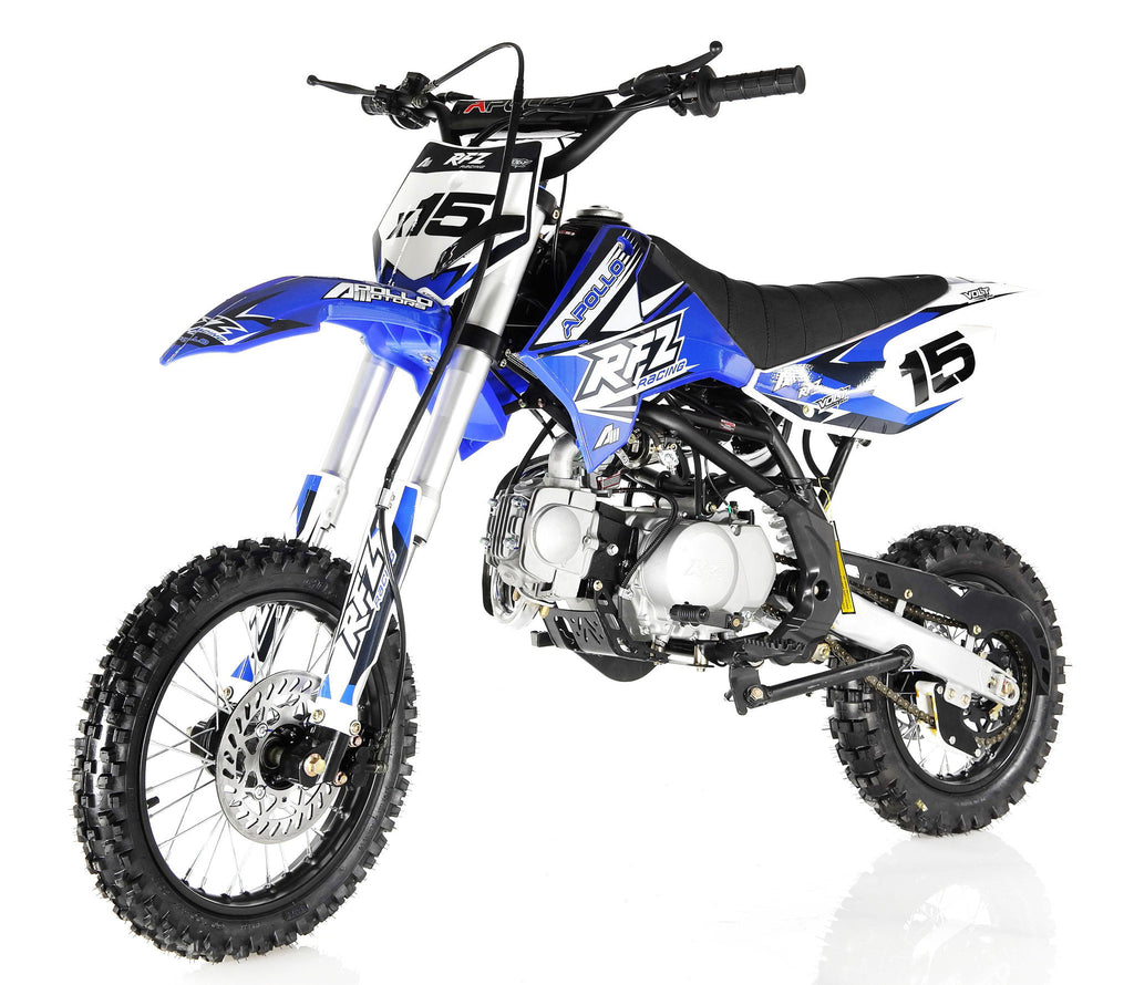 Apollo X15 125cc Dirt Bike Blue