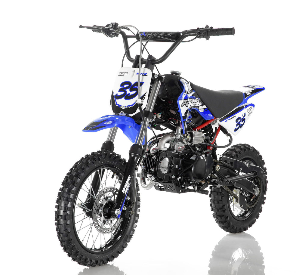 Apollo 35 125cc Dirt Bike Blue