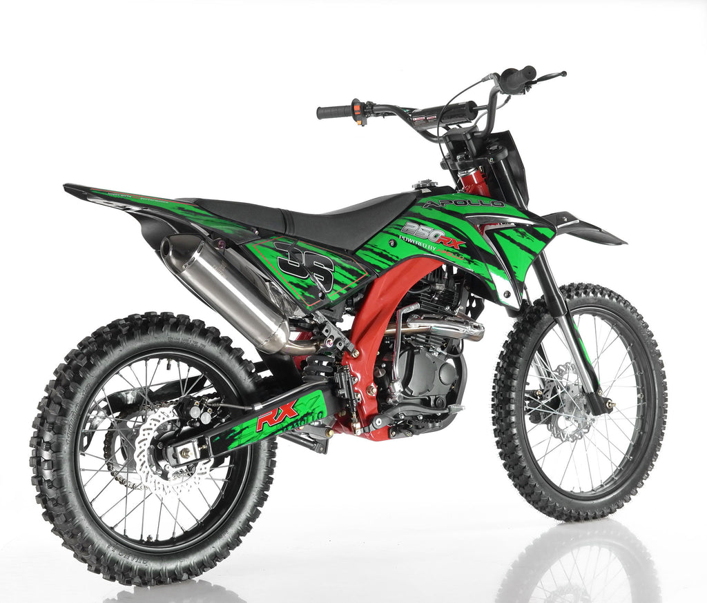 Apollo 36 250cc Dirt Bike Green Right Back