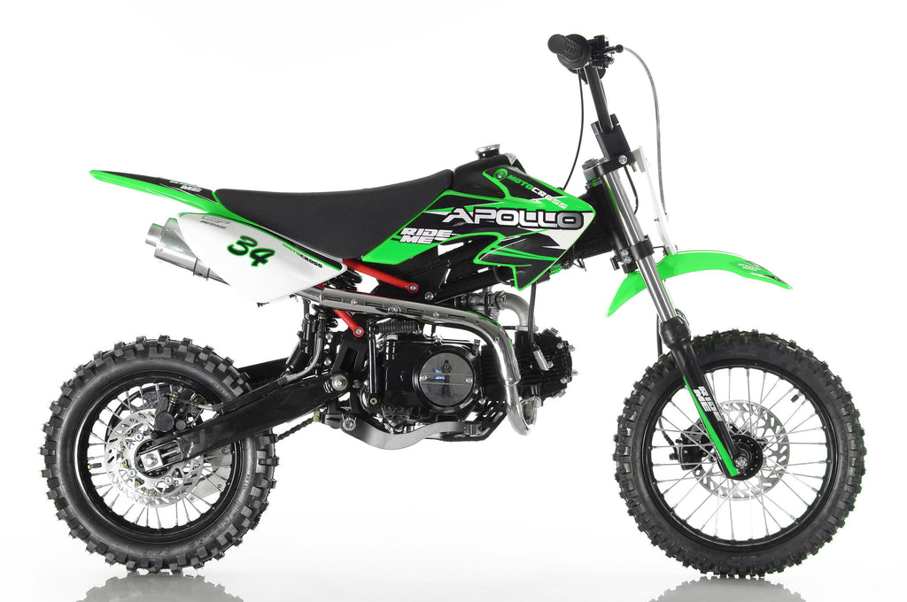 Apollo 34 110cc Dirt Bike Green