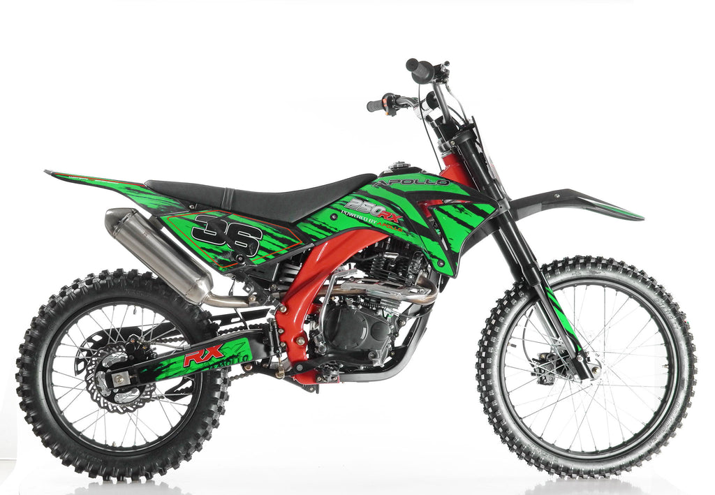 Apollo 36 250cc Dirt Bike Green Right