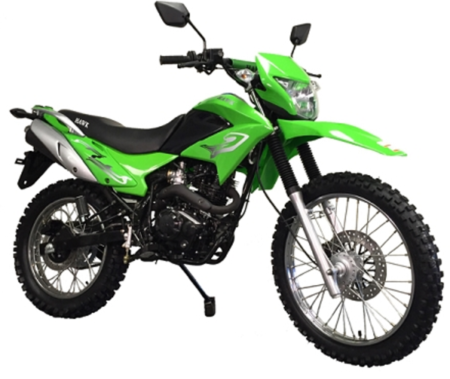 RPS Hawk 250cc Dirt Bike Green