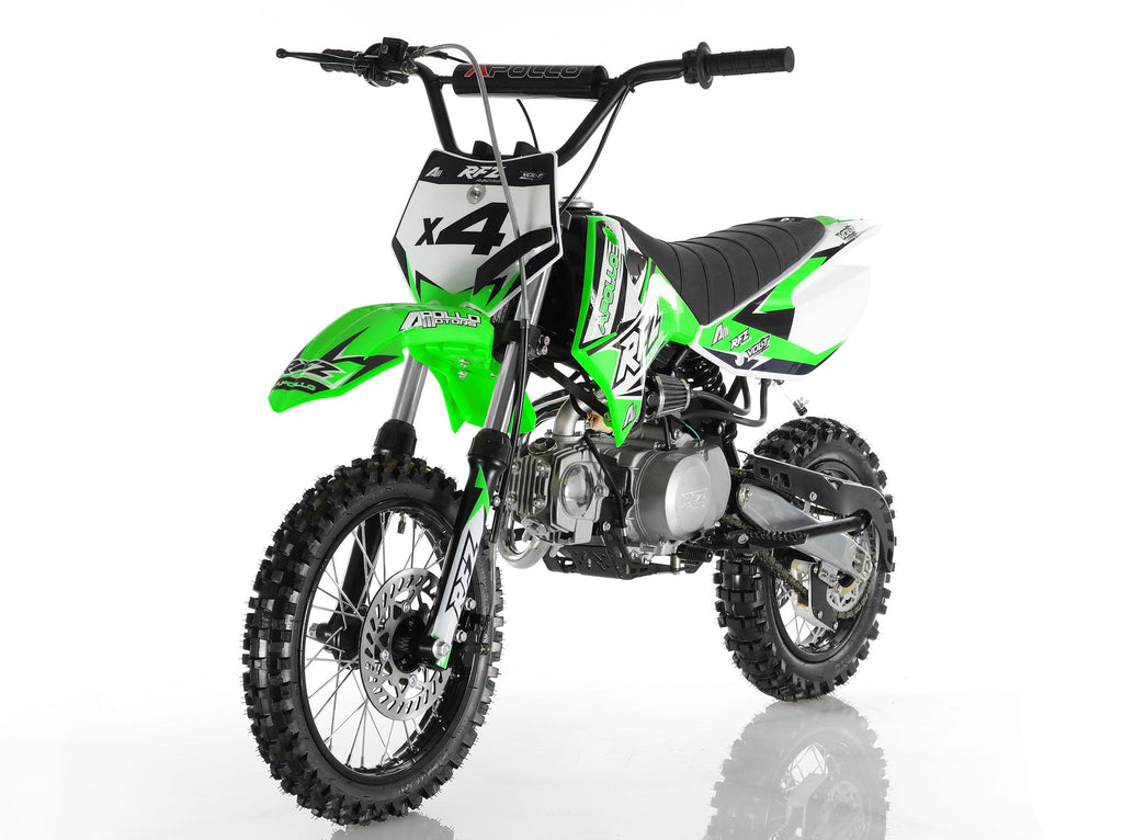 Apollo X4 Dirt Bike 110cc Green
