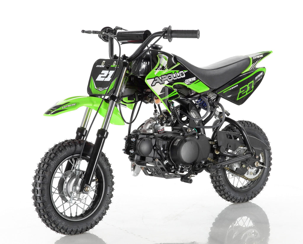 Apollo 21 70cc Dirt Bike Green
