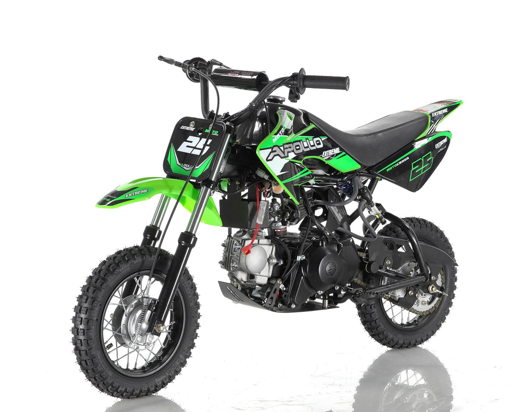 Apollo 25 Dirt Bike 70cc Green
