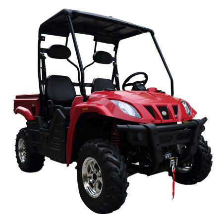 TrailMaster Taurus 400 Utility Vehicle Red Right Front View