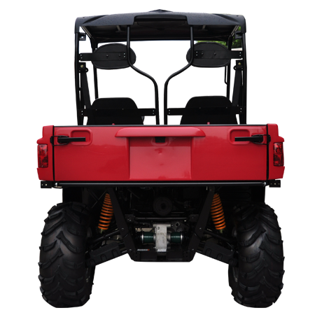 TrailMaster Taurus 400 Utility Vehicle Red Back View