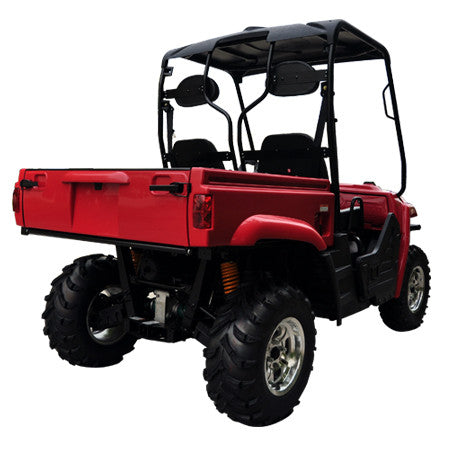 TrailMaster Taurus 400 Utility Vehicle Red Right Back View