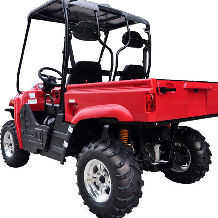 TrailMaster Taurus 400 Utility Vehicle Red Left Back View