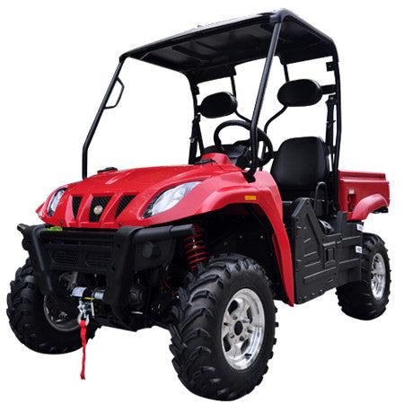 TrailMaster Taurus 400 Utility Vehicle Red Left Front View
