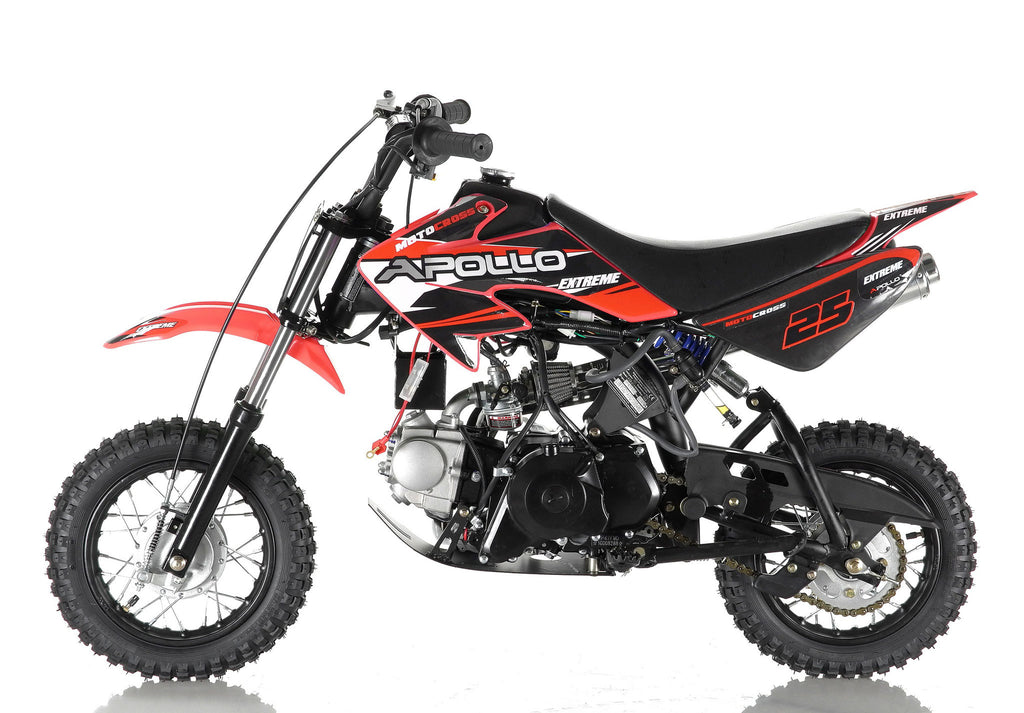 Apollo 25 Dirt Bike 70cc Red Left