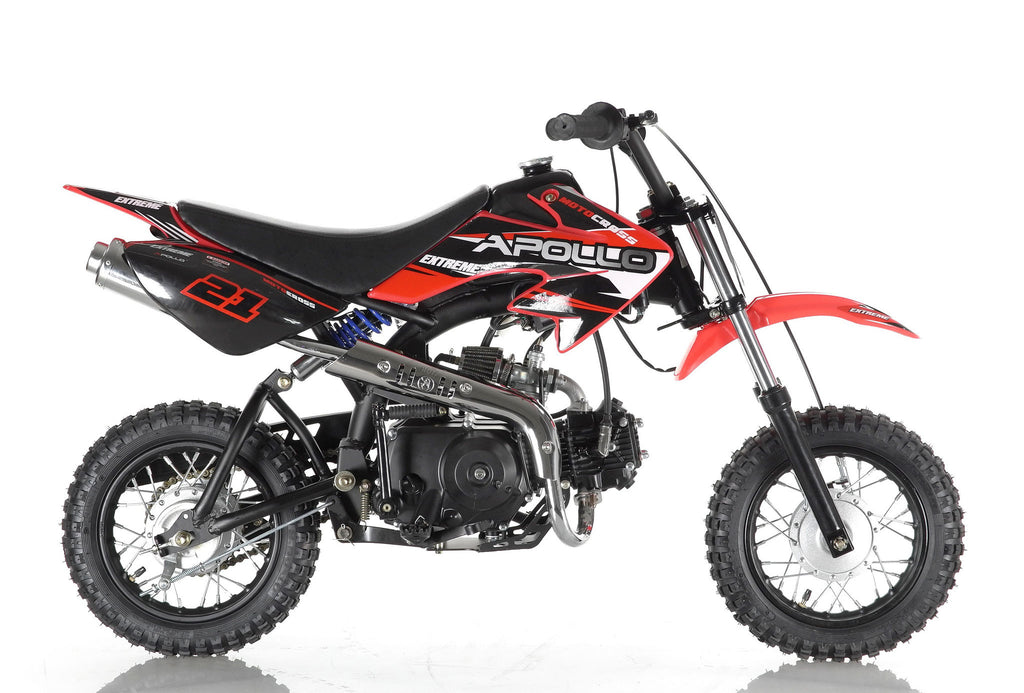 Apollo 21 70cc Dirt Bike Red Right