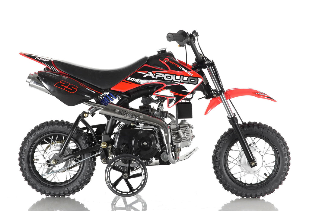 Apollo 25 Dirt Bike 70cc Red Right