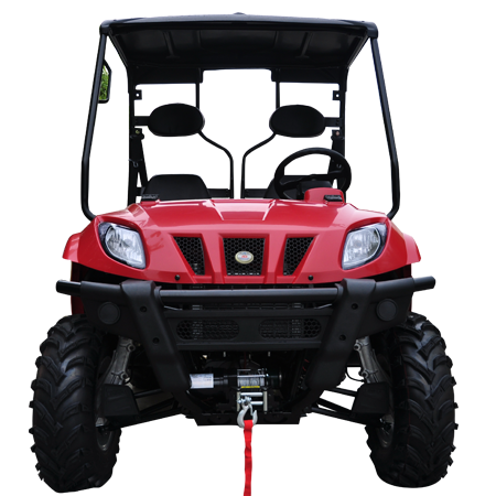 TrailMaster Taurus 400 Utility Vehicle Red Front View