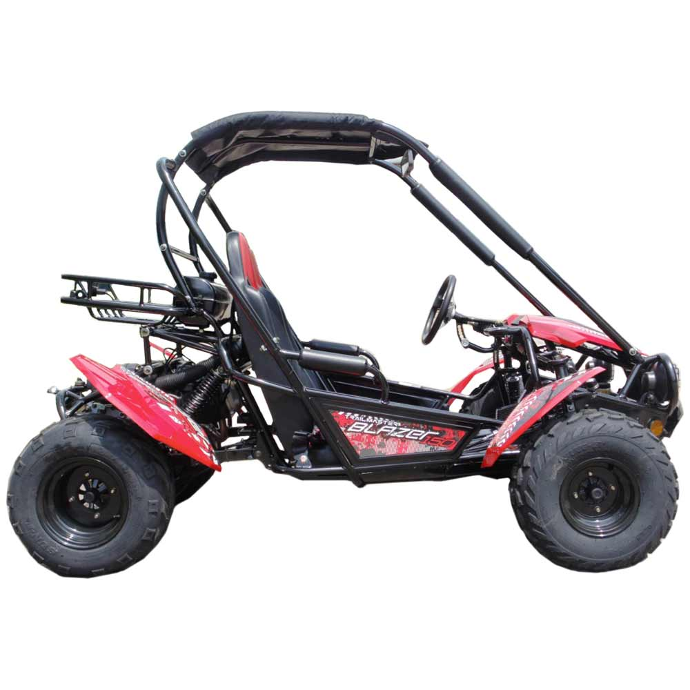 TrailMaster Blazer 150 Go Kart Red Right